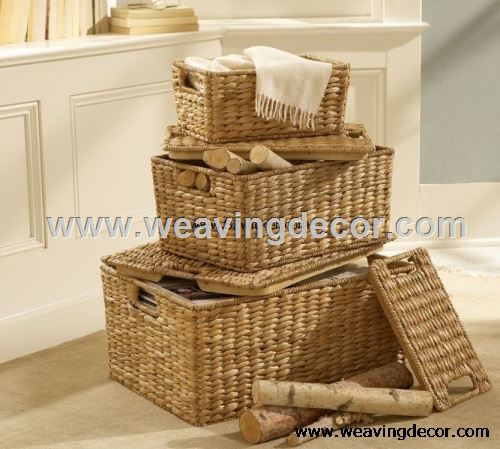 straw laundry basket from factory