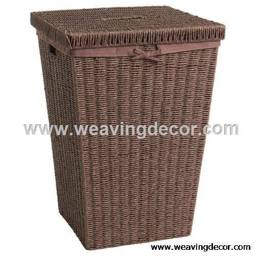 paper string basket laundry hamper from factory