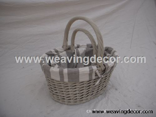 wicker laundry basket from factory