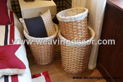 natural wicker laundry hamper for wholesale