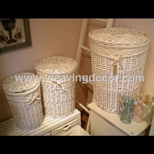 wicker laundry basket for wholesale
