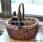 Cheap wicker storage basket wicker basket hamper fruit bread basket decoration